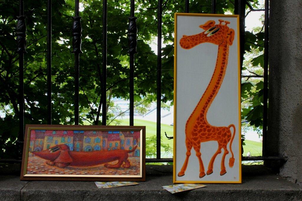 Такса и жираф