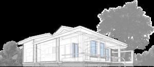 Остекленная летняя терраса, меблированая площадка, вокруг камина, круглого очага,  с кухней-столовой, ванной, гостиной, спальней.