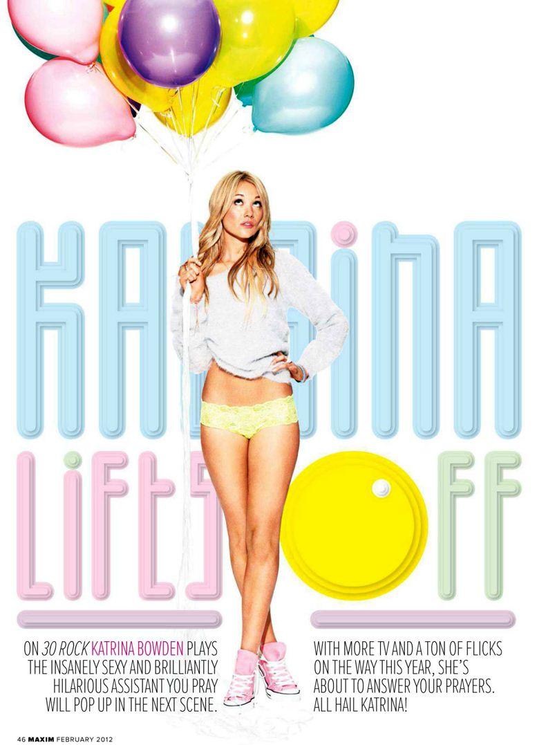 Katrina Bowden / Катрина Боуден, фотограф Matt Jones - интервью и фотографии в журнале Maxim USA, февраль 2012