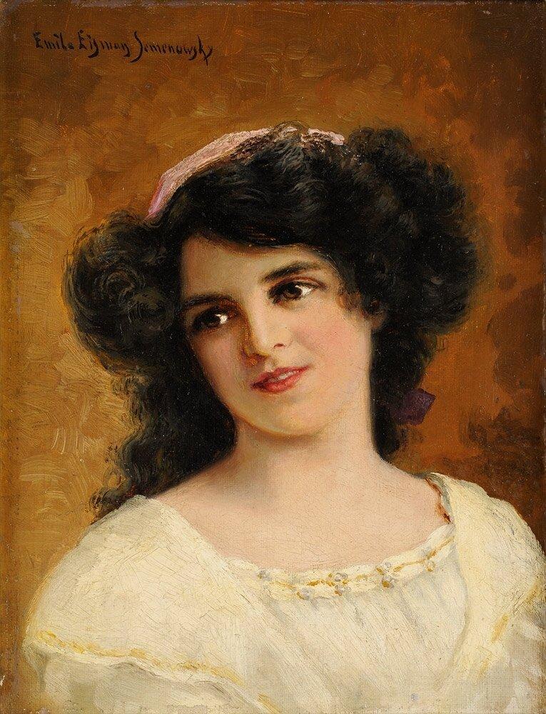 Emile Eisman Semenowsky (1857 - 1911) Темноволосая красавица.jpg
