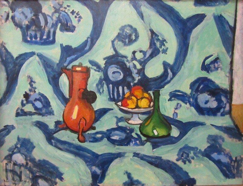 Матисс. Натюрмот с голубой скатертью