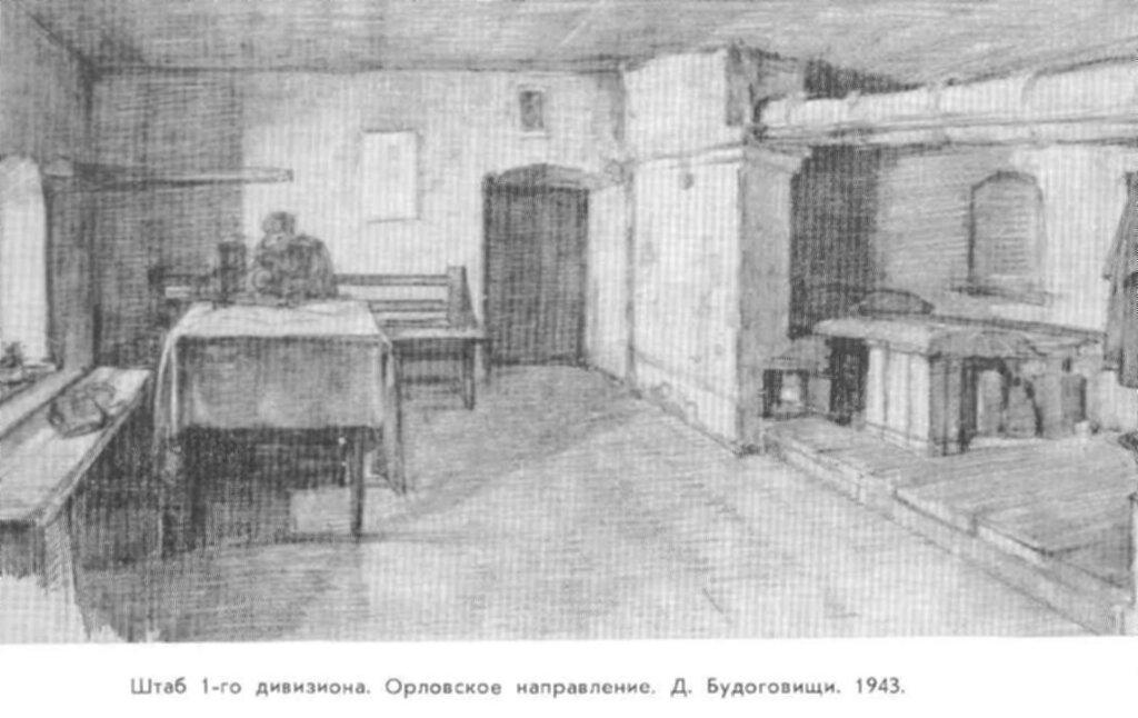 С.Уранова. Шатб 1-го дивизиона. Орловское направление. 1943