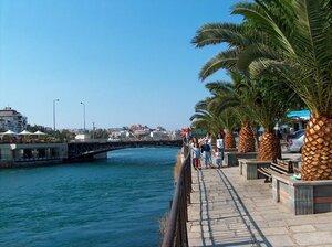 Халкида старый мост на остров Эвию