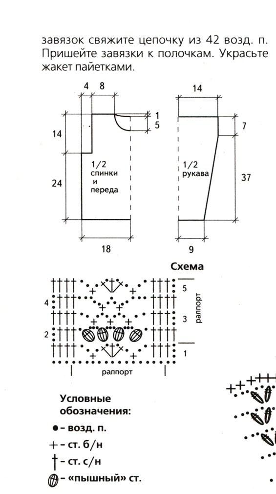 Вязание крючком кофт для девочек схемы