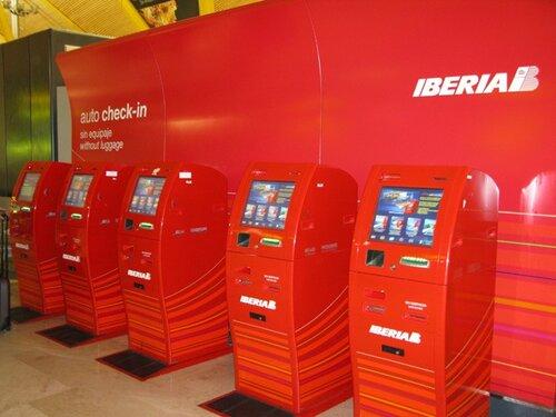 стойка автоматической регистрации, иберия, iberia