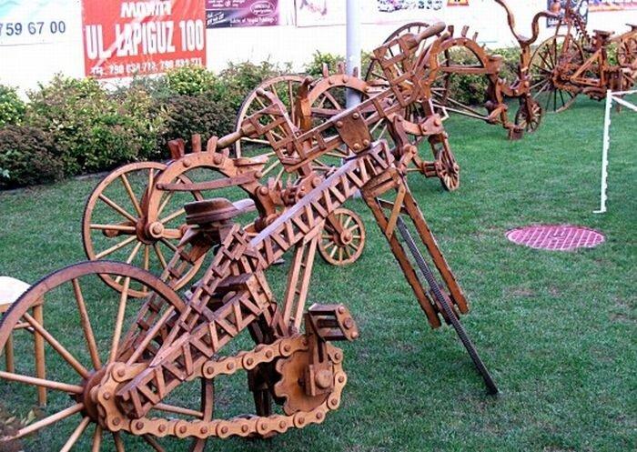 Когда водопроводчику скучно, он делает деревянные велосипеды 0_8a3bb_854739c6_XL