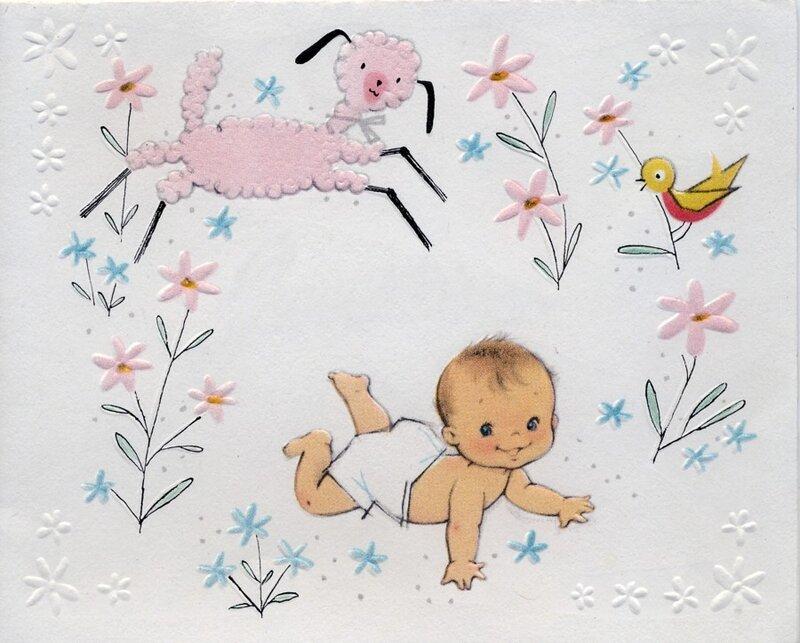 Открытки для новорожденного малыша 94