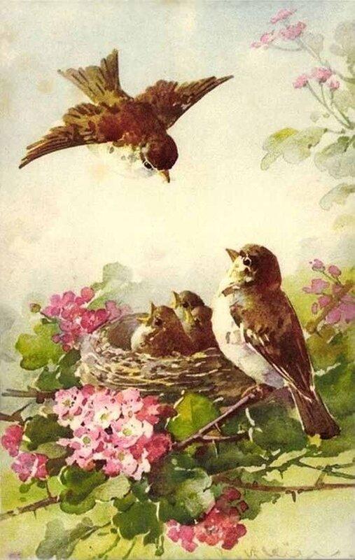 К. Кляйн. Семья птиц.