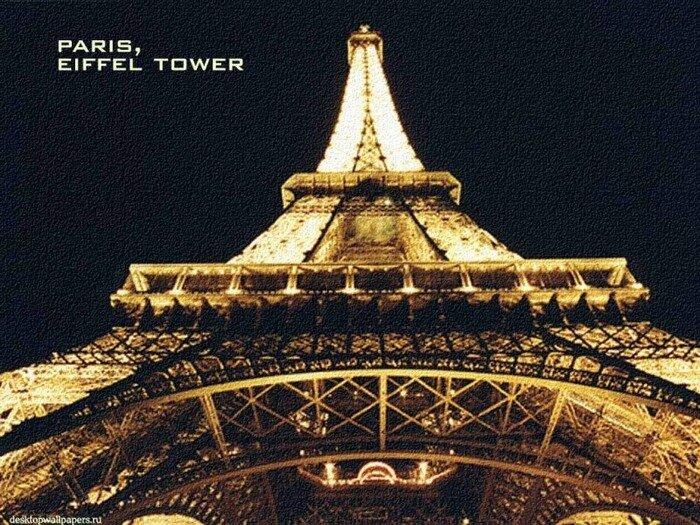 """Схема вышивки  """"Эйфелева башня """": таблица цветов."""