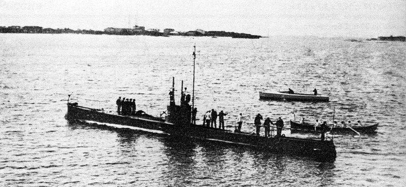 """...Минога """", сконструированная и построенная инженером И.Г.Бубновым. в 1909"""