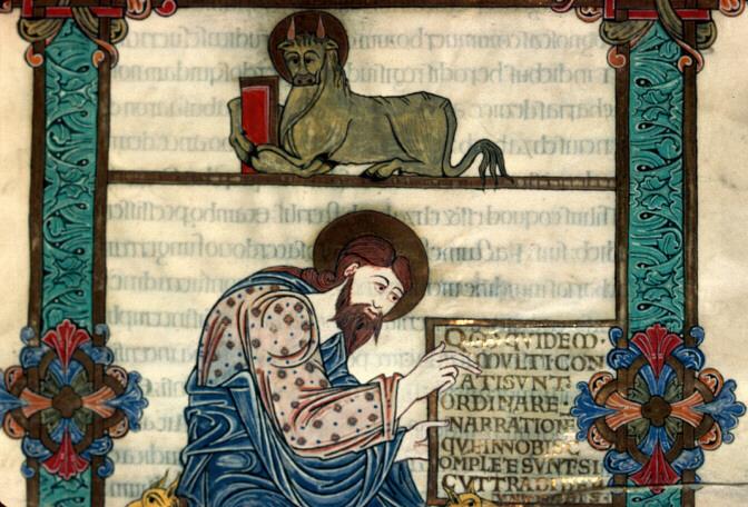 11 BIBLE LUC ECRIVANT ET SON SYMBOLE