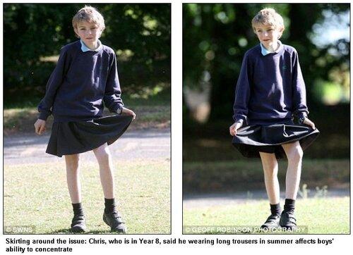 Чтобы разрешили шорты, пришлось мальчику год носить юбку