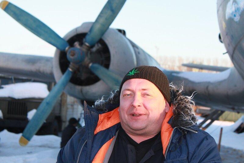Олег около Ил-14Т