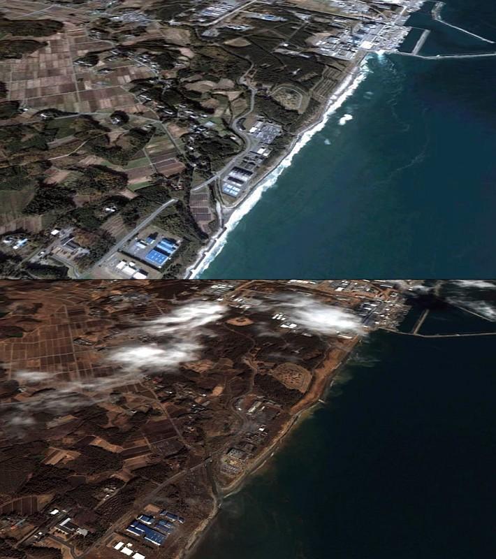 South of Fukushima nuclear plant
