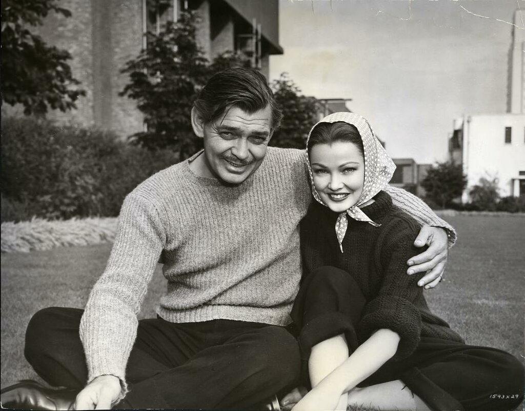 Clark Gable and Gene Tierney