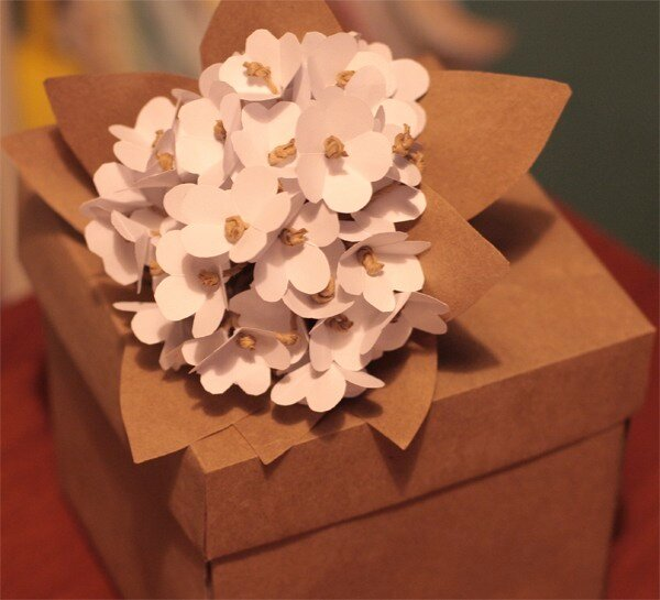 Мелкие цветочки из бумаги
