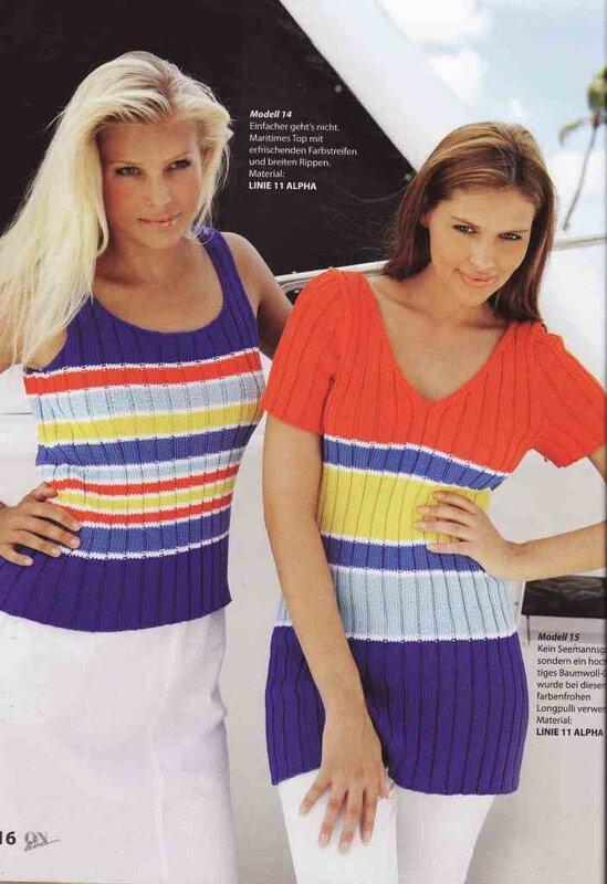 Модели для вязания спицами из журналов