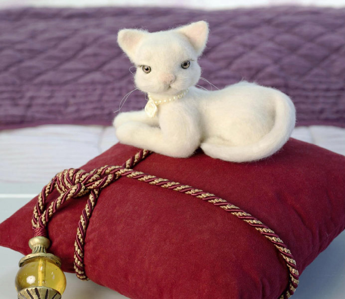 Кошечка из войлока.  Kitty Felt