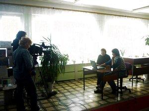 Съёмка Брянского телевидения. Рабочий момент съёмки.