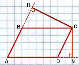 menshaya vyisota parallelogramma