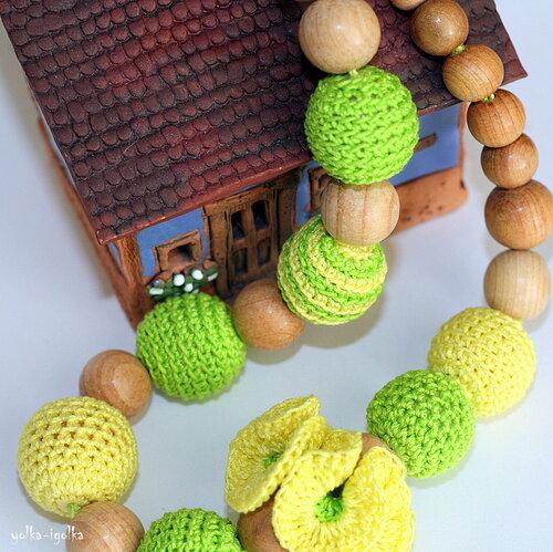 Слингобусы желто-зелёные