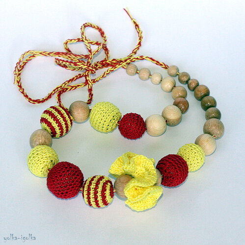 Слингобусы красно-желтые с полоской