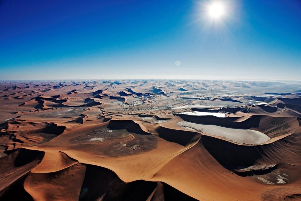 2. Песчаные дюны Соссусфлей под палящим солнцем