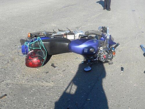 Авария со скутеристом в Куйбышеве