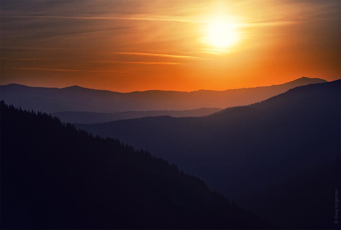 фото восход солнца Карпаты
