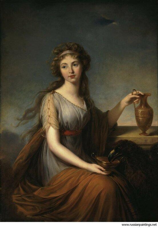 Виже-Лебрен, Элизабет-Луиз - Портрет Анны Питт в виде Гебы, 1792, холст, масло, 140х99,5см, Эрмитаж