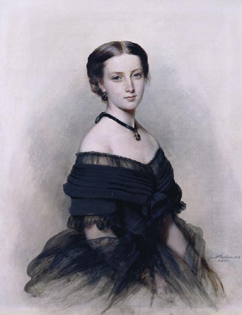 Принцесса Елена (1846-1923)  Подпись и дата одна тысяча восемьсот шестьдесят одна