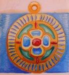 Деталь с женского пояса Айнов.