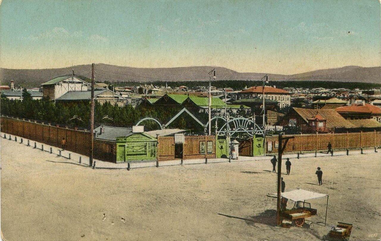 Вид на городской сад