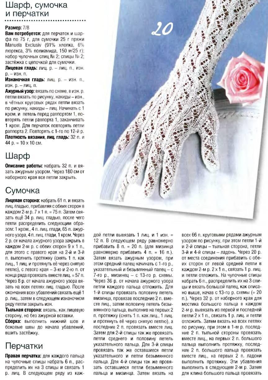 Красивые узоры для перчаток спицами схемы