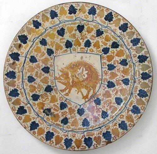 Тарелка с гербом