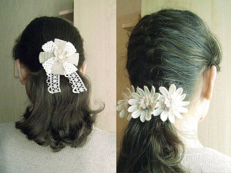 Крючком украшения для волос