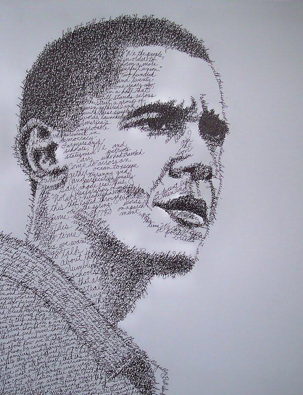 портрет из букв