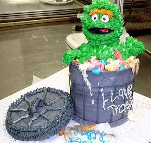 Мусорный торт