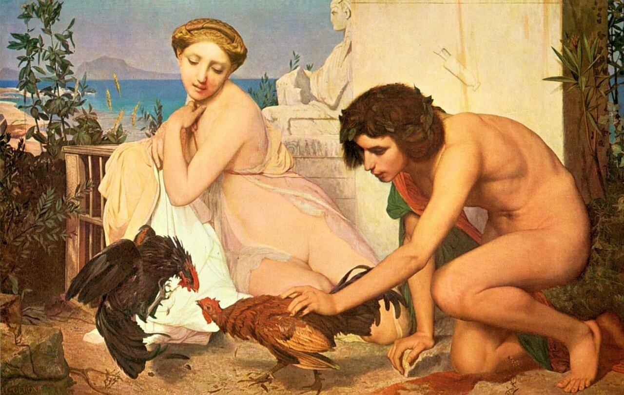 Жером, Жан Леон Молодые греки забавляются петушиным боем 1846