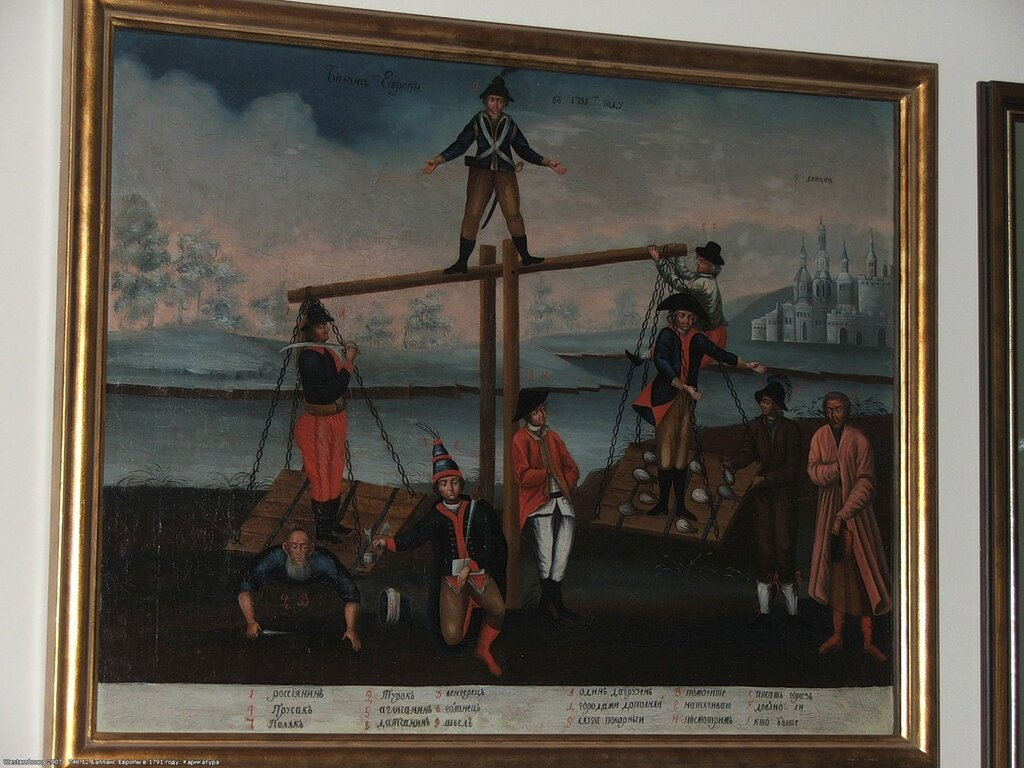 746.12 Баланс Европы в 1791 году. Карикатура.