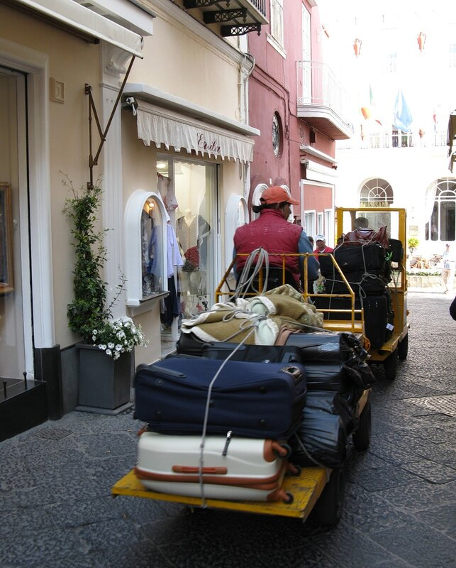 Капри. Улица Витторио Эммануэле (Via Vittorio Emanuele)