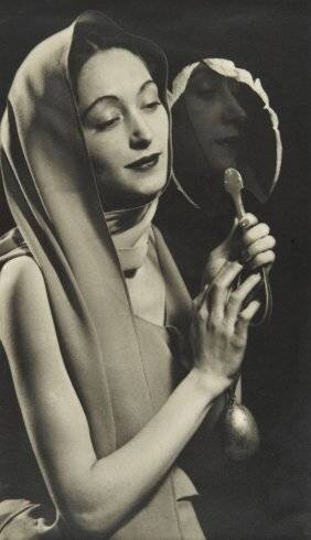 MAN RAY Nusch Eluard with a Mirror, 1935