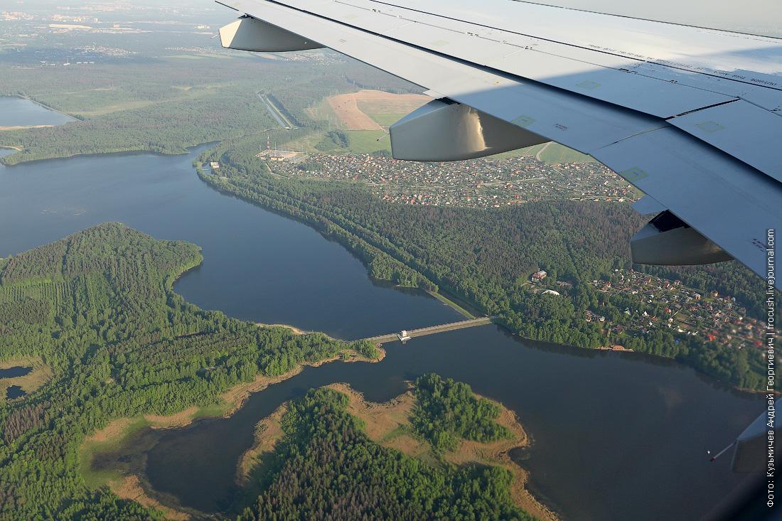 аэрофото Пяловское водохранилище, Пяловская плотина (№24), Учинское водохранилище
