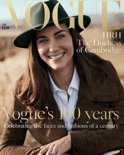 Впервые на обложке Vogue появилась Кейт Миддлтон