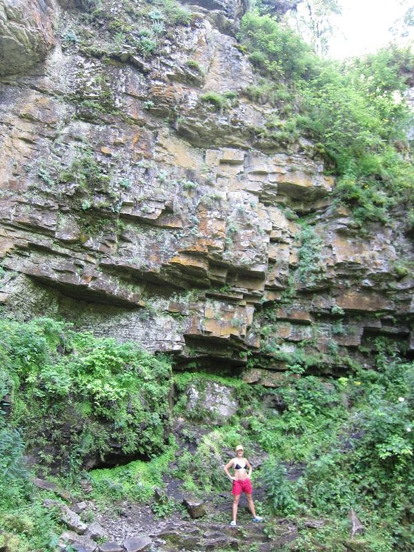 Сухие водопады— скала вконце