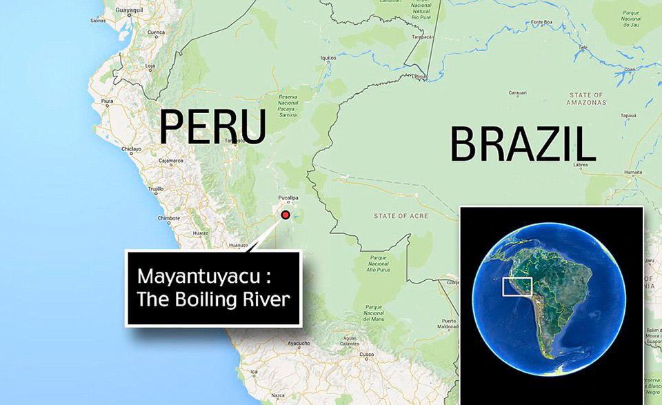 В джунглях Амазонки обнаружили легендарную кипящую реку