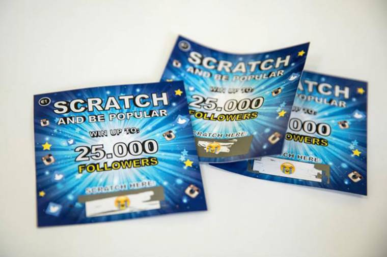 Fake Followers - These scratch tickets let you win up to 25,000 followers