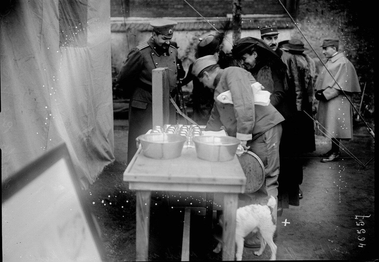 1916. 6 апреля. Полковник Дмитрий Иванович Ознобишин посещает русскую баню на рю Лурмель