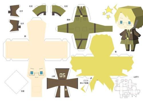 Чибики из разных аниме.  18 схем.
