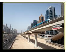 ОАЭ. Дубаи. Dubai Metro Line along the Sheikh Zayed Road. Фото Philip Lange - shutterstock